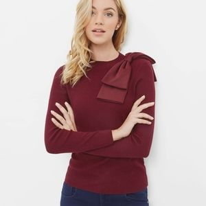 TED BAKER NEHRU MAROON SWEATER SIZE 2